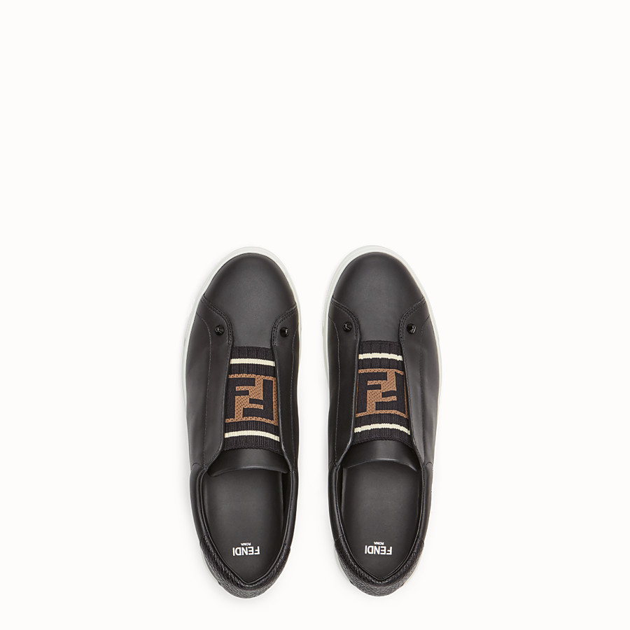 FENDI SNEAKER - Slip-on aus Leder in Schwarz - view 4 detail