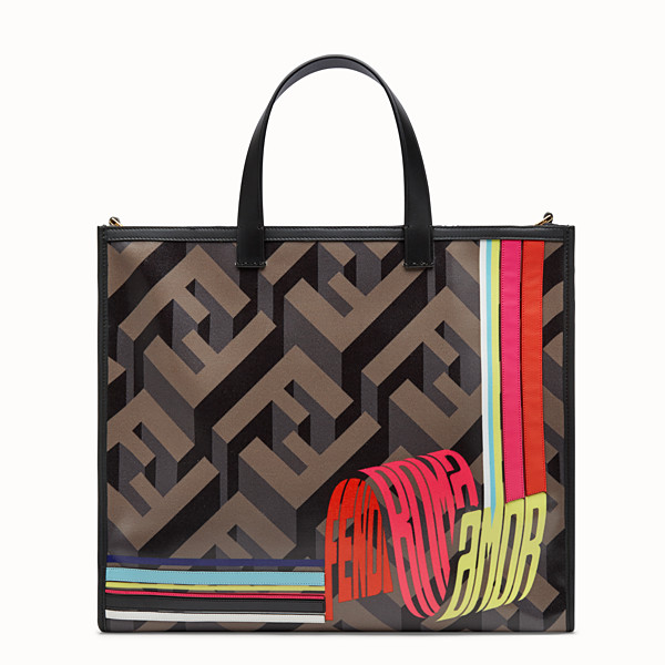 FENDI SHOPPER - Fendi Roma Amor fabric bag - view 1 small thumbnail