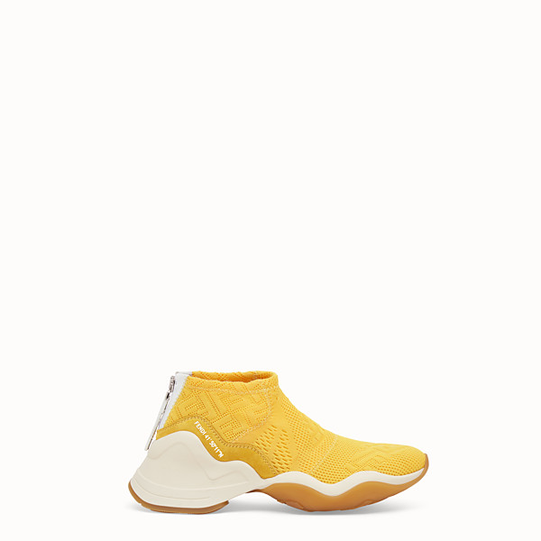 FENDI SNEAKERS - High-tech yellow jacquard sneakers - view 1 small thumbnail