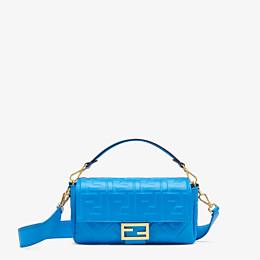 FENDI BAGUETTE - Blue leather bag - view 1 thumbnail