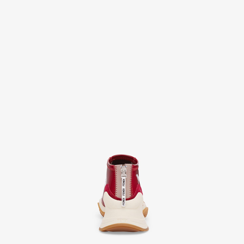 FENDI SNEAKER - Sneaker in glossy neoprene rosso - vista 3 dettaglio