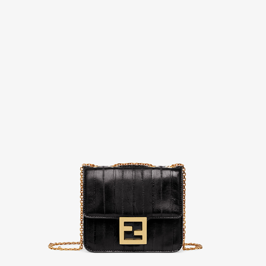 FENDI FENDI FAB - Black eel leather bag - view 1 detail