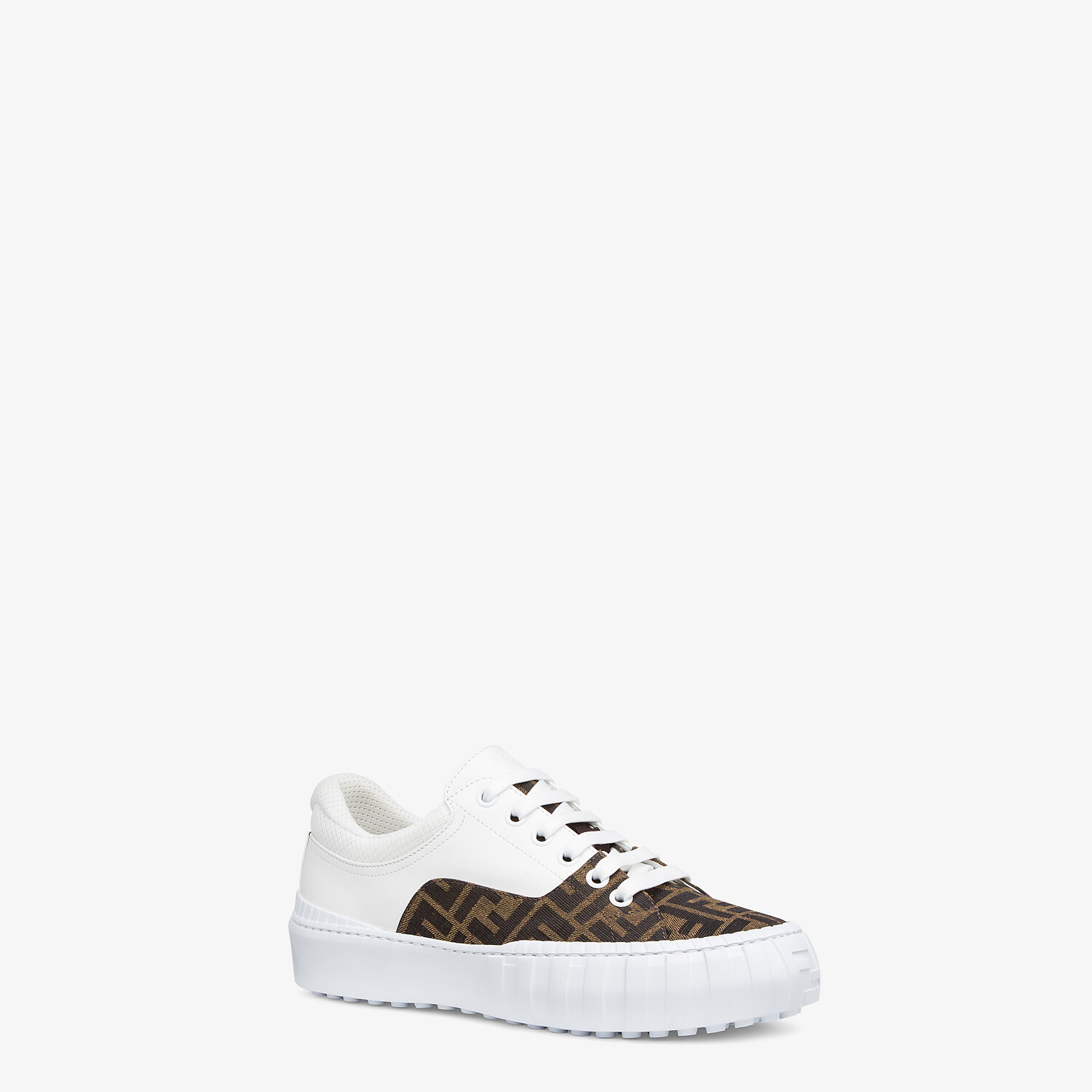 FENDI SNEAKERS - Brown fabric low-tops - view 2 detail