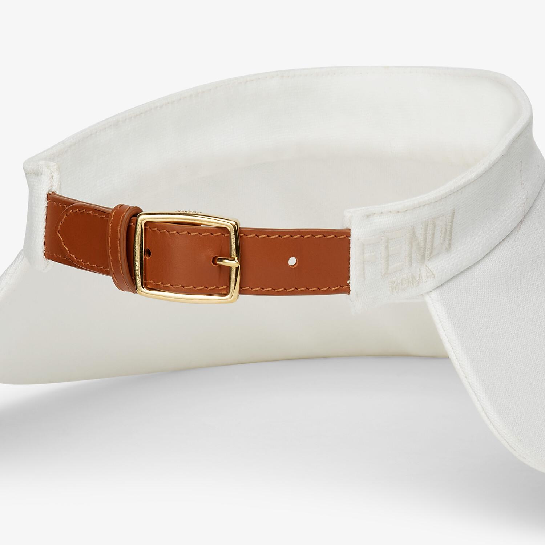 FENDI VISOR - White canvas visor - view 2 detail