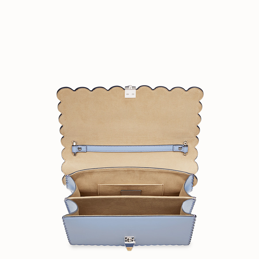 FENDI KAN I - Light blue leather bag - view 4 detail