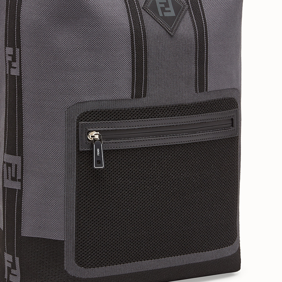 FENDI BACKPACK - Grey tech knit backpack - view 4 detail