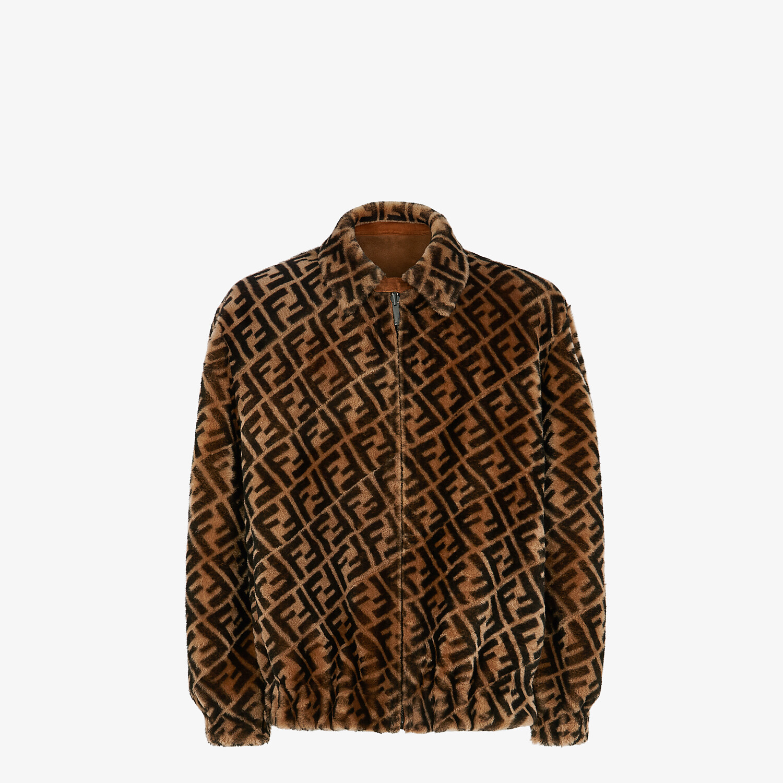 FENDI BLOUSON JACKET - Jacket in brown shearling - view 1 detail
