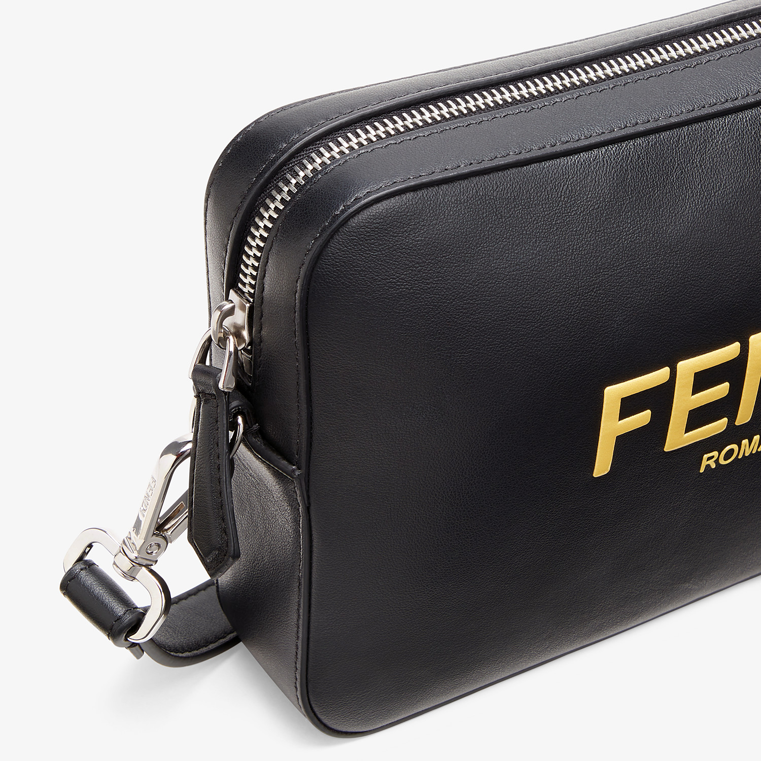 FENDI CAMERA CASE - Black leather bag - view 5 detail