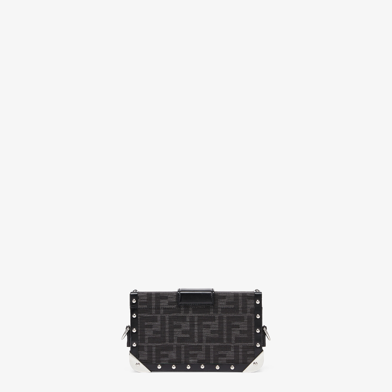 FENDI BAGUETTE TRUNK MINI - FF jacquard fabric bag - view 3 detail