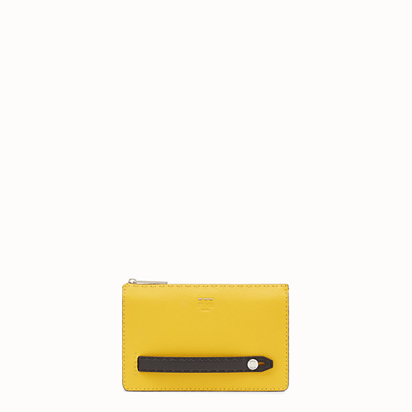 FENDI CLUTCH - in three-tone Roman leather - view 1 small thumbnail
