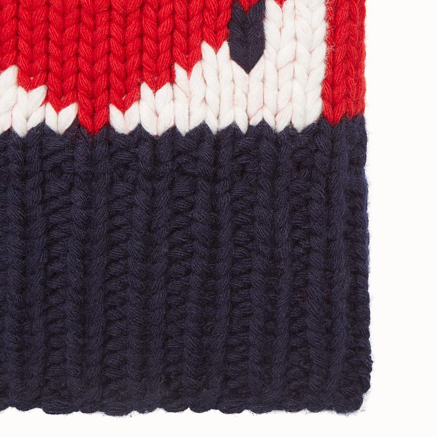 FENDI HAT - in three-tone wool - view 2 detail