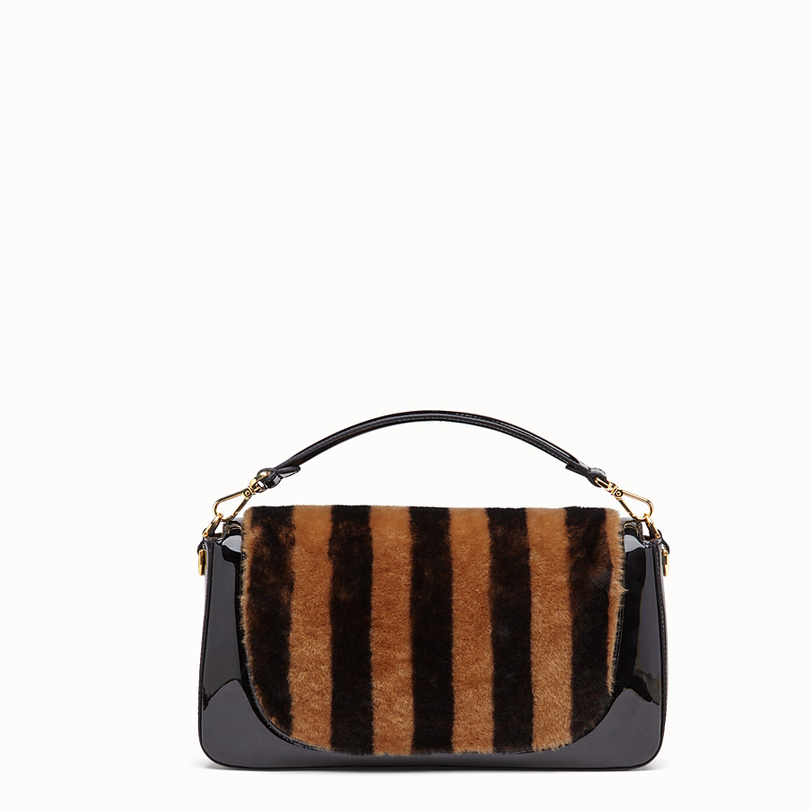 FENDI BAGUETTE LARGE - Multicolor, patent leather and sheepskin bag - view 4 detail