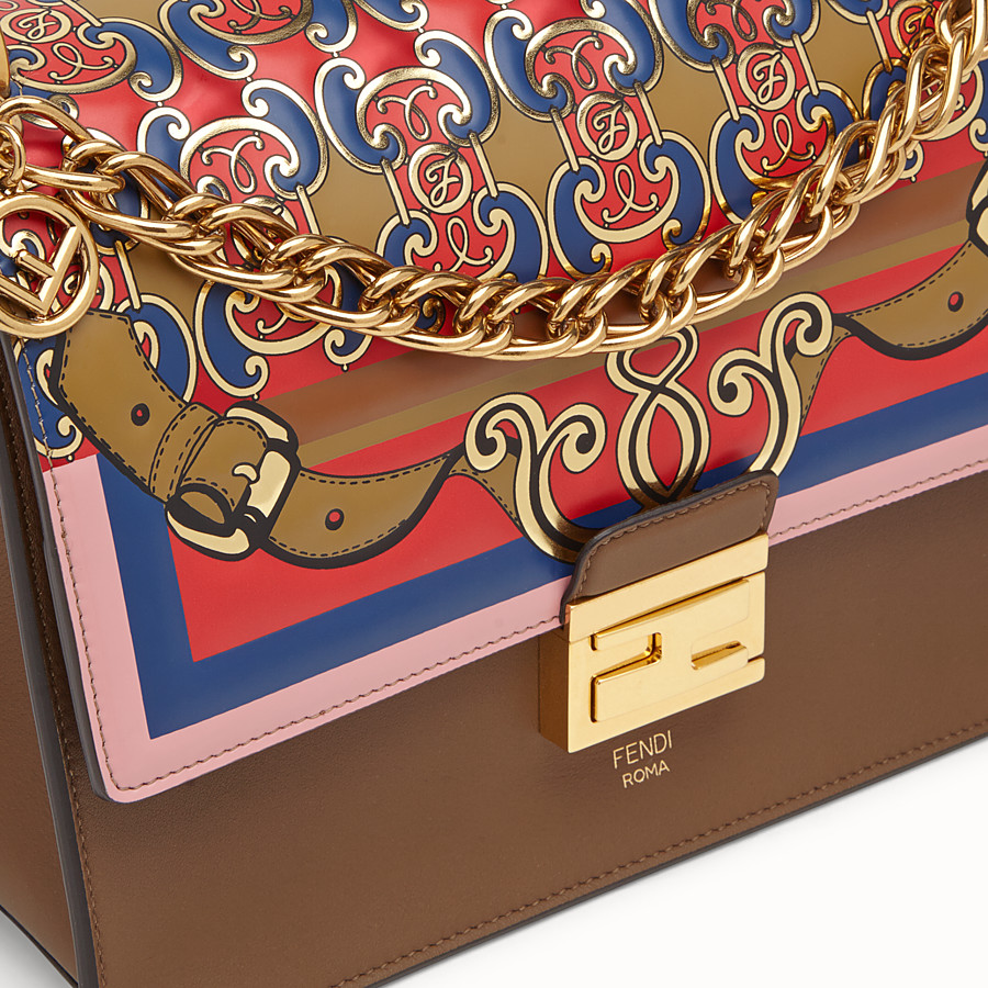 FENDI KAN U - Multicolour leather bag - view 6 detail