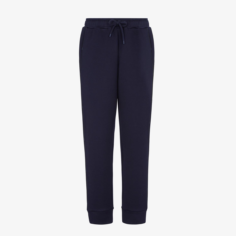 FENDI PANTS - Blue jersey pants - view 1 detail