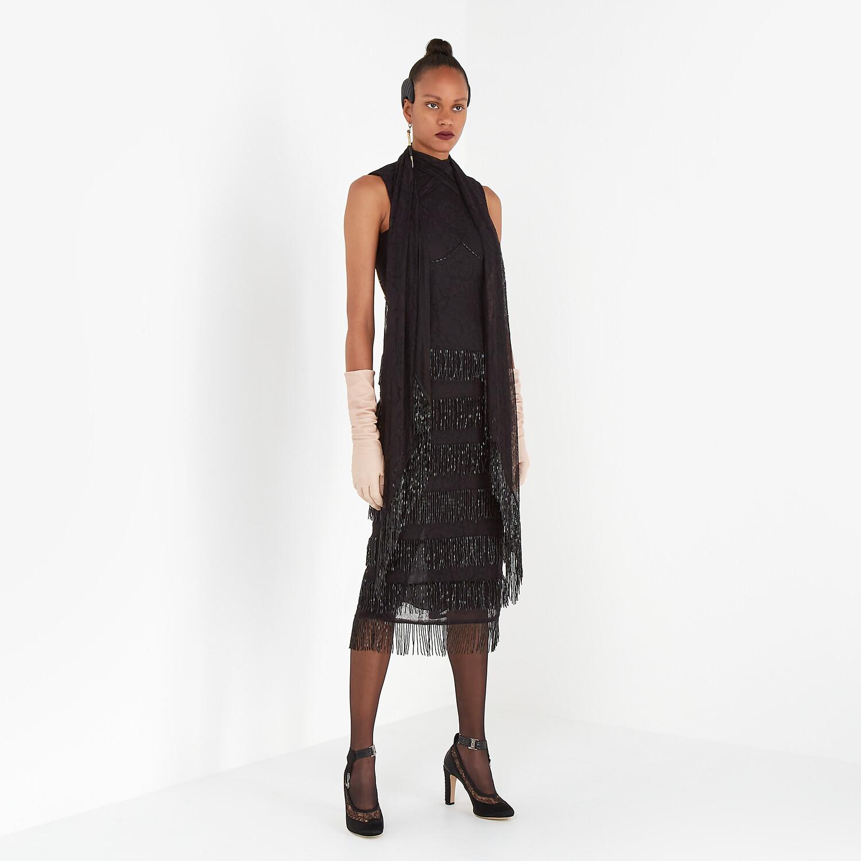 FENDI DRESS - Black lace dress - view 4 detail