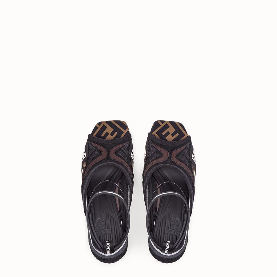 FENDI 涼鞋 - 黑色科技網眼涼鞋 - view 4 detail