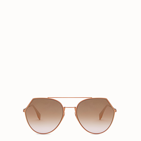 FENDI EYELINE - Matt pink sunglasses. - view 1 small thumbnail