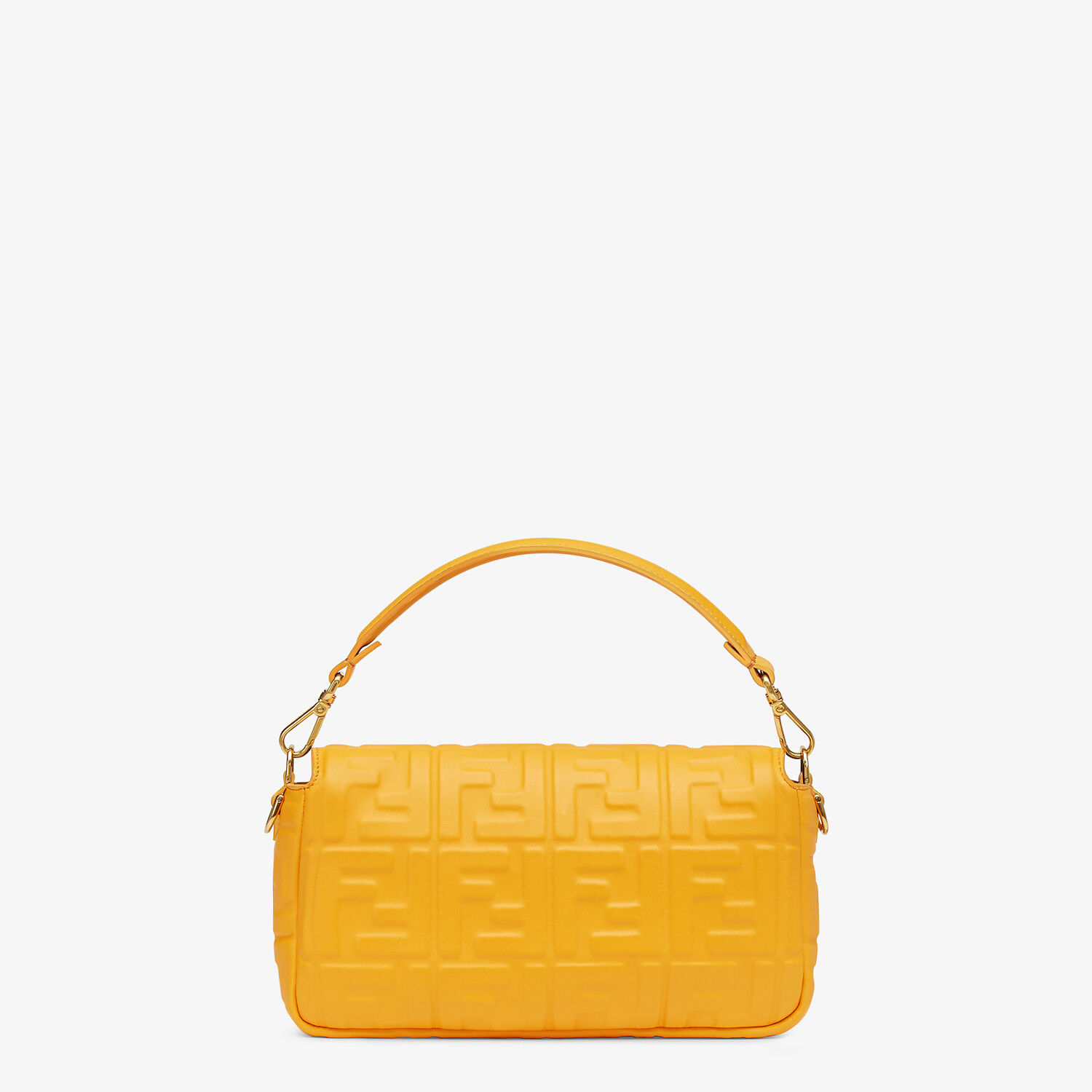 FENDI BAGUETTE - Orange nappa leather bag - view 4 detail