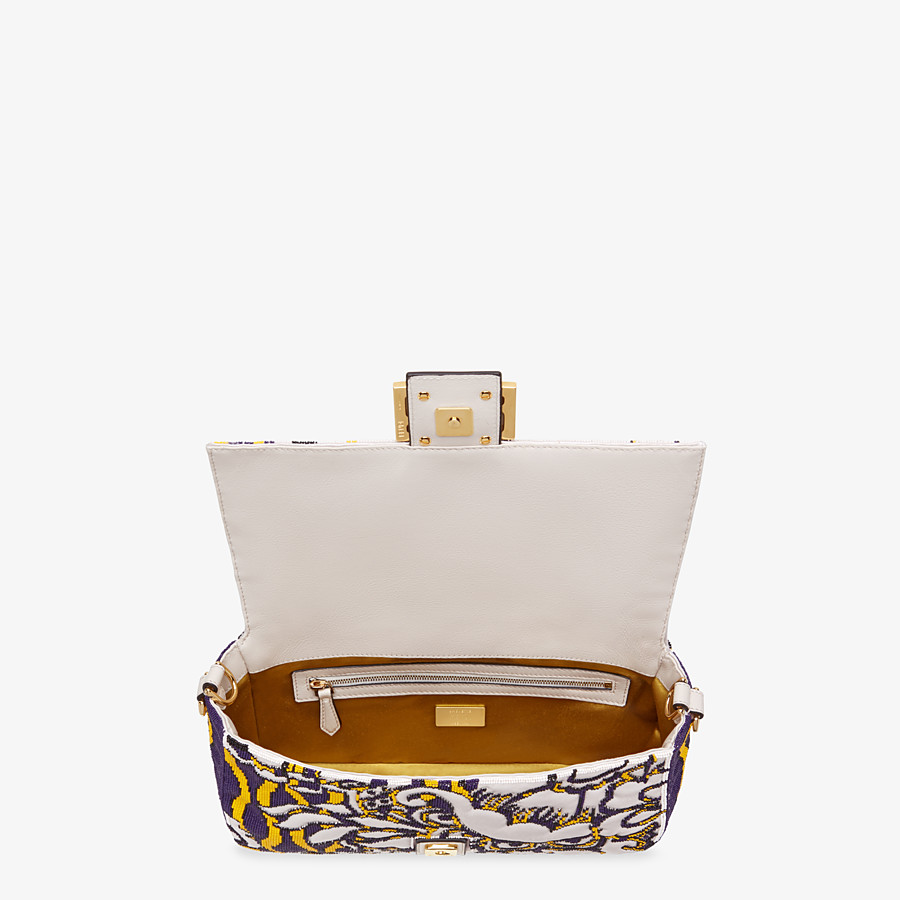 FENDI BAGUETTE - Bag with multicolor embroidery - view 4 detail