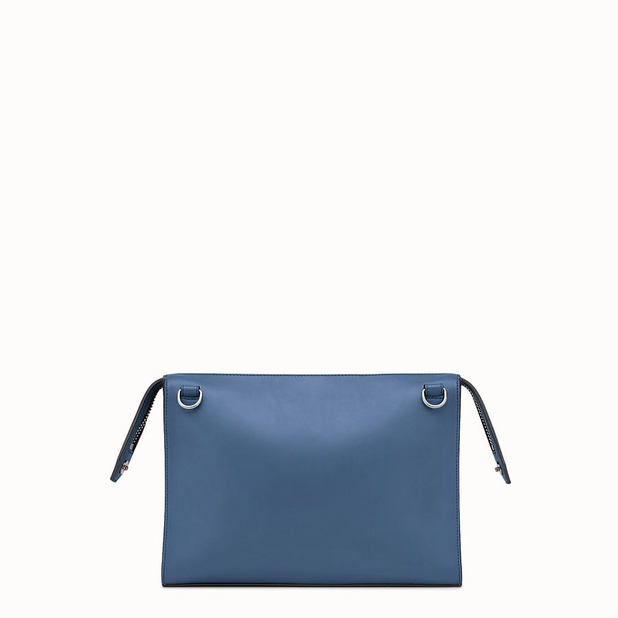FENDI DOKUMENTENMAPPE - Tasche aus blauem Glattleder - view 3 detail