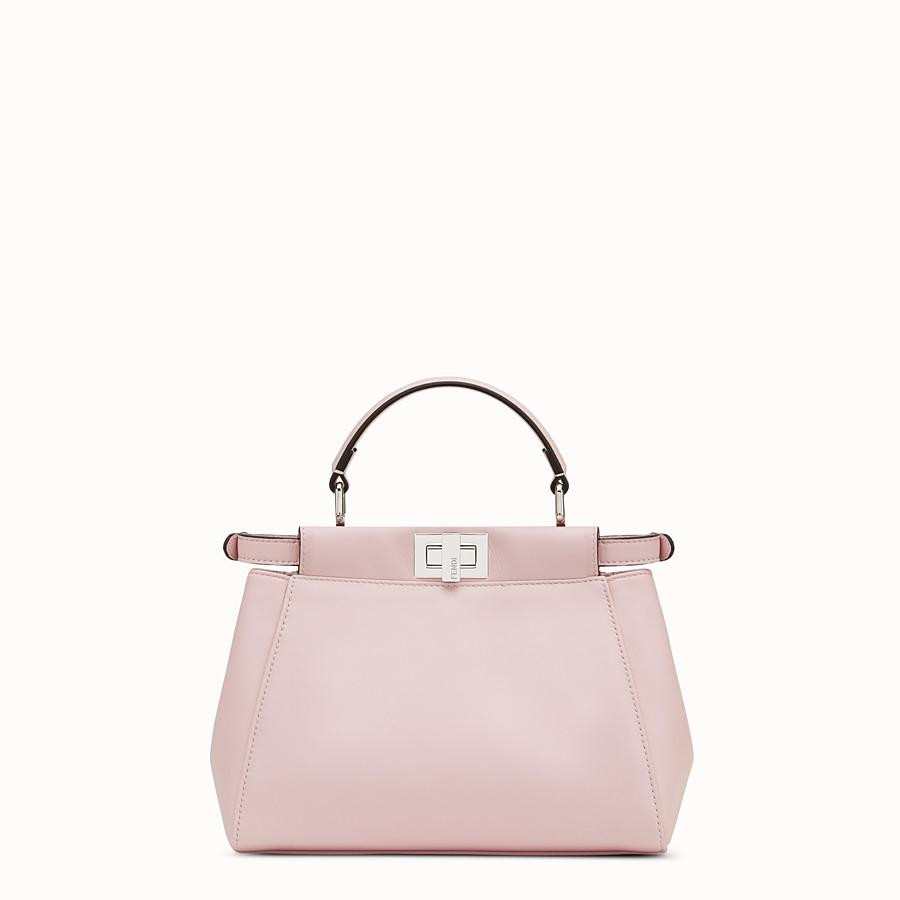 FENDI PEEKABOO MINI - Pink leather bag - view 3 detail
