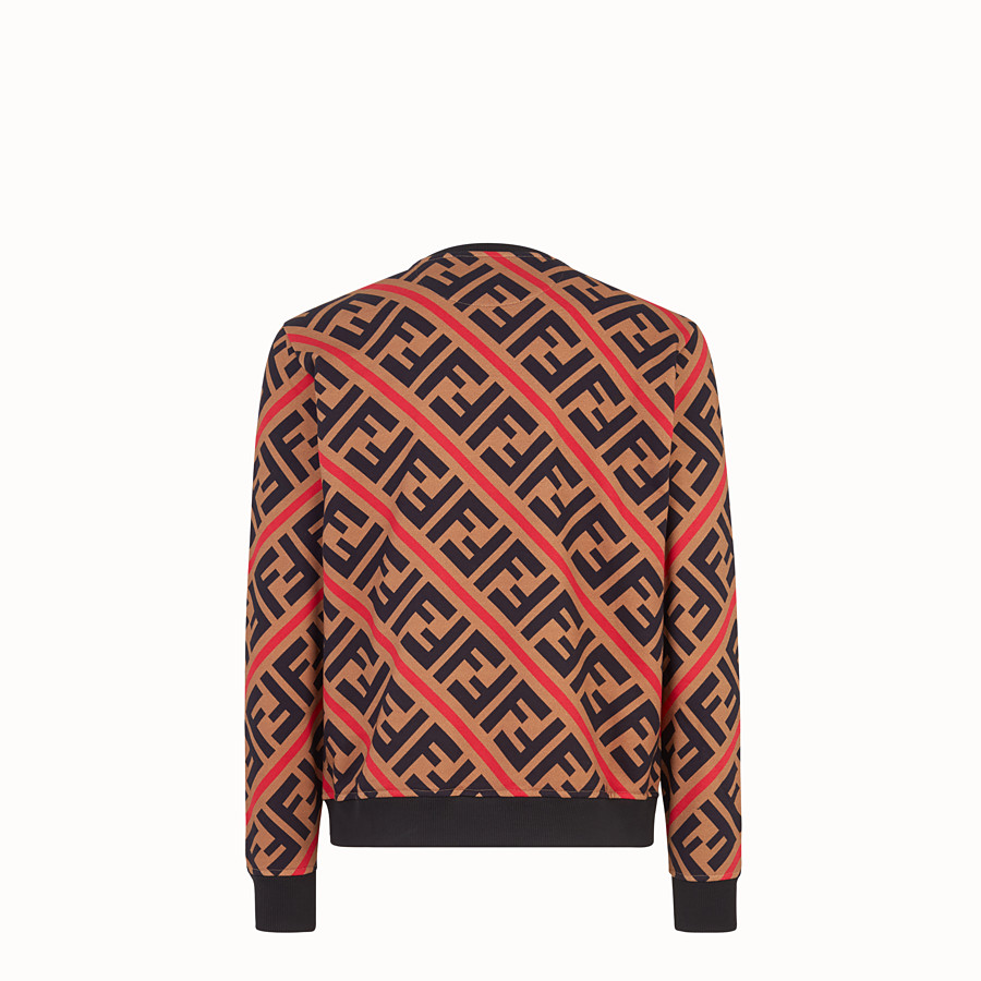 FENDI SWEATSHIRT - Beige cotton sweatshirt - view 2 detail