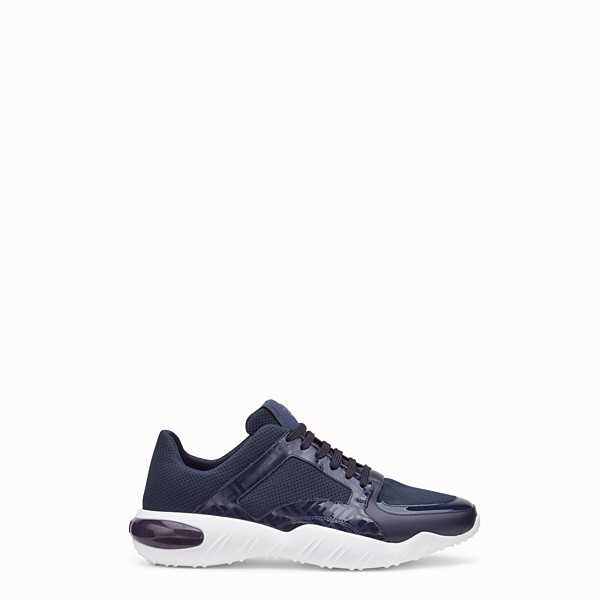 FENDI SNEAKERS - Blue tech fabric sneakers - view 1 small thumbnail