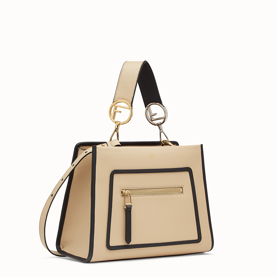 FENDI RUNAWAY SMALL - Beige leather bag - view 2 detail