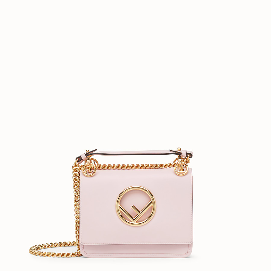 FENDI KAN I F SMALL - Pink leather mini-bag - view 1 detail