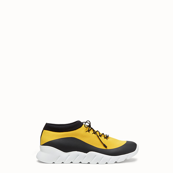 FENDI SNEAKERS - Yellow tech fabric low top - view 1 small thumbnail