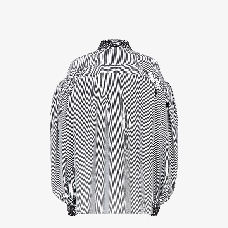FENDI SHIRT - Striped cotton shirt - view 2 detail