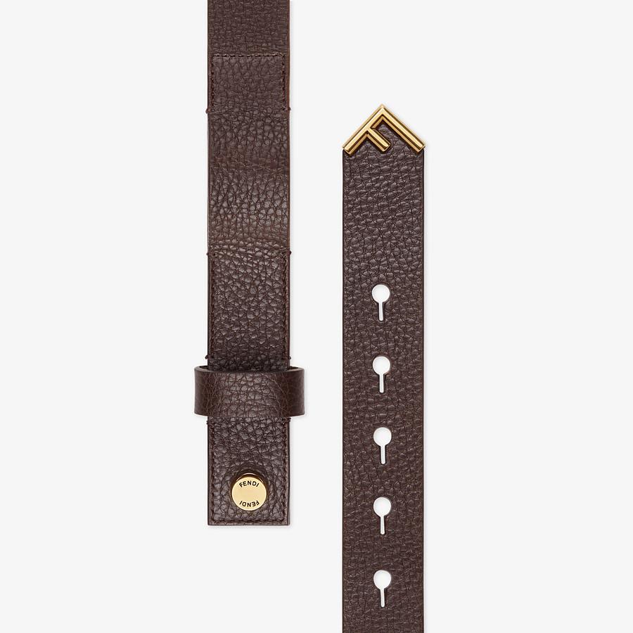 FENDI BELT - Brown leather belt - view 2 detail