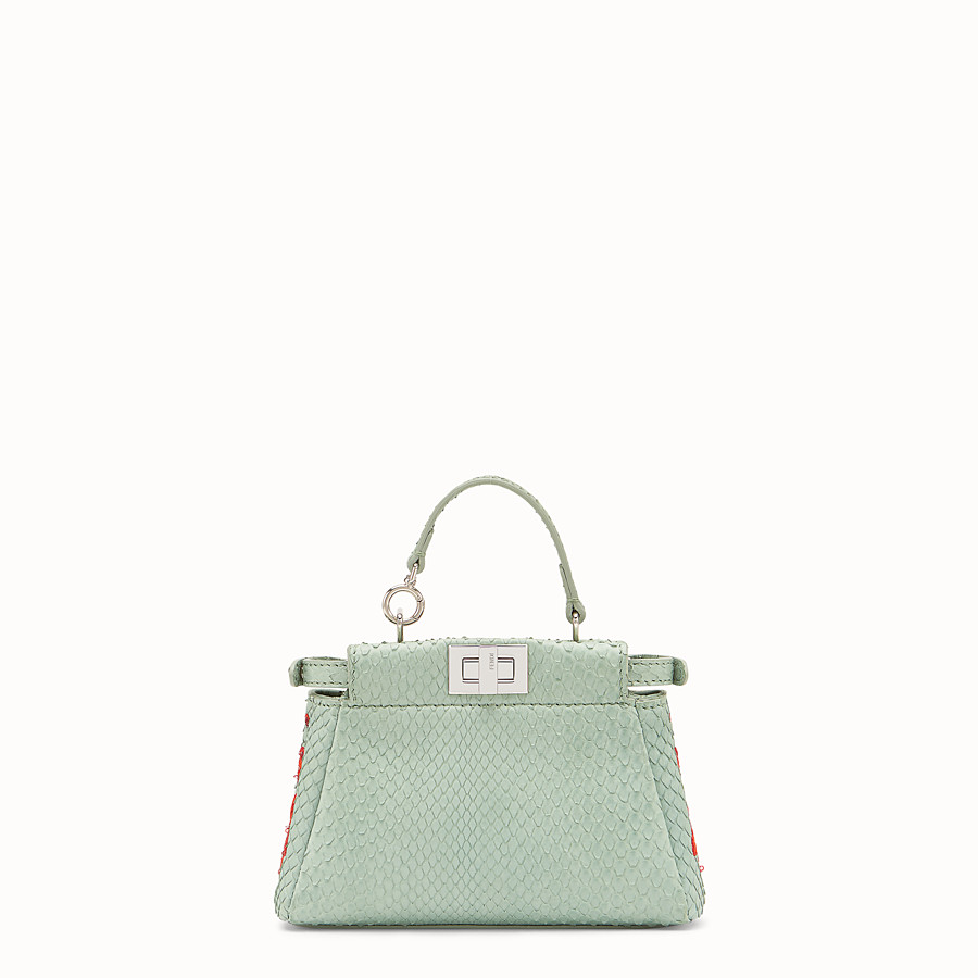 FENDI MICRO PEEKABOO - Green python skin micro-bag - view 3 detail