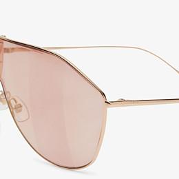 FENDI FF FAMILY - Metal sunglasses with Pequin motif - view 3 thumbnail