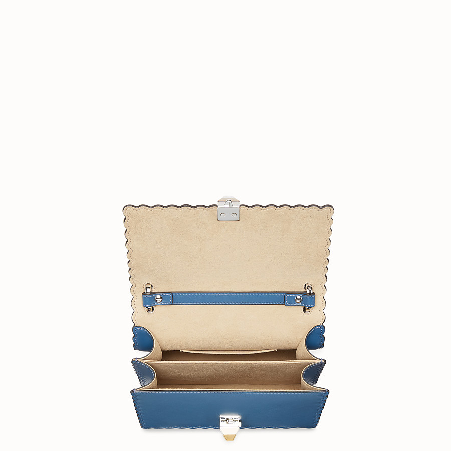 FENDI KAN I SMALL - Blue leather mini-bag - view 4 detail