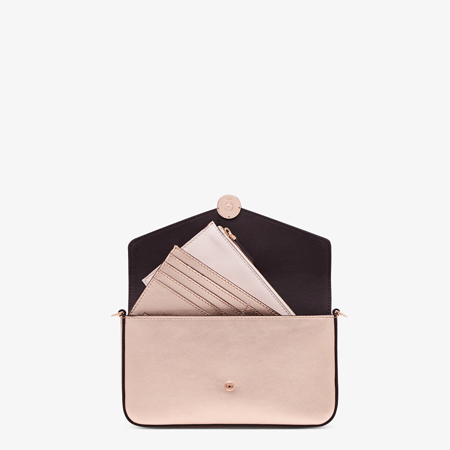 FENDI WALLET ON CHAIN WITH POUCHES - Pink leather mini-bag - view 6 detail
