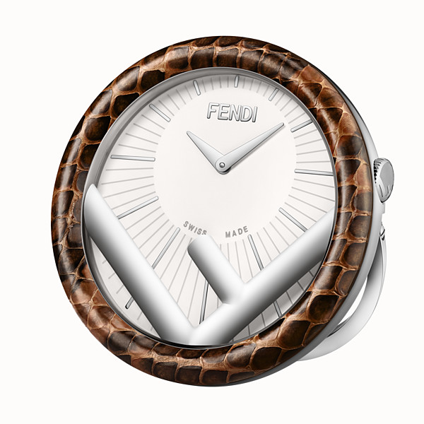 FENDI RUN AWAY TABLE CLOCK - 60 mm - Table Clock with F is Fendi logo - view 1 small thumbnail