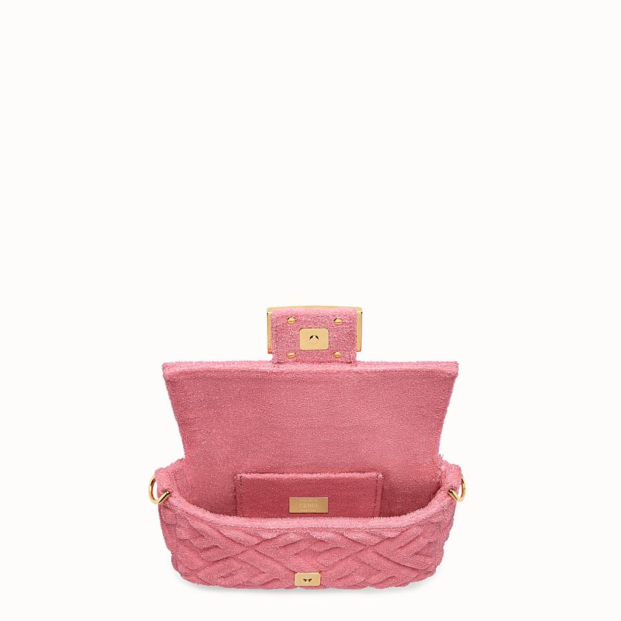 FENDI BAGUETTE - Pink terry bag - view 6 detail
