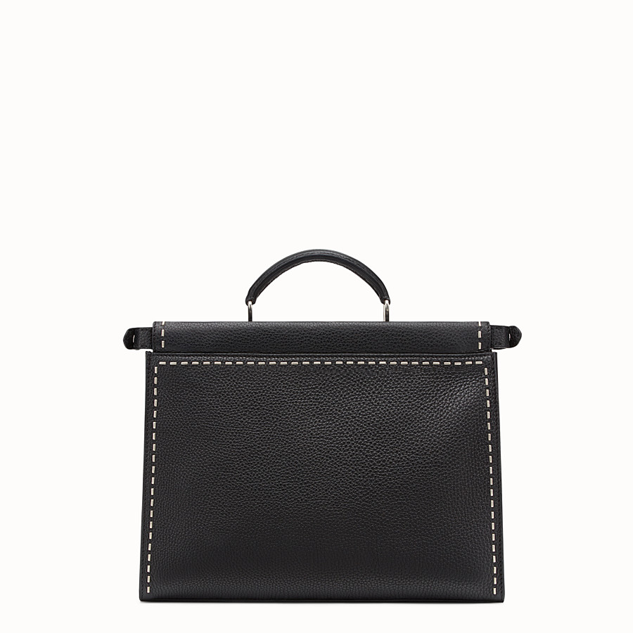 FENDI PEEKABOO FIT - Black leather Selleria bag - view 3 detail