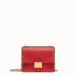 FENDI KAN U SMALL - Mini-Tasche aus Leder in Rot - view 1 thumbnail