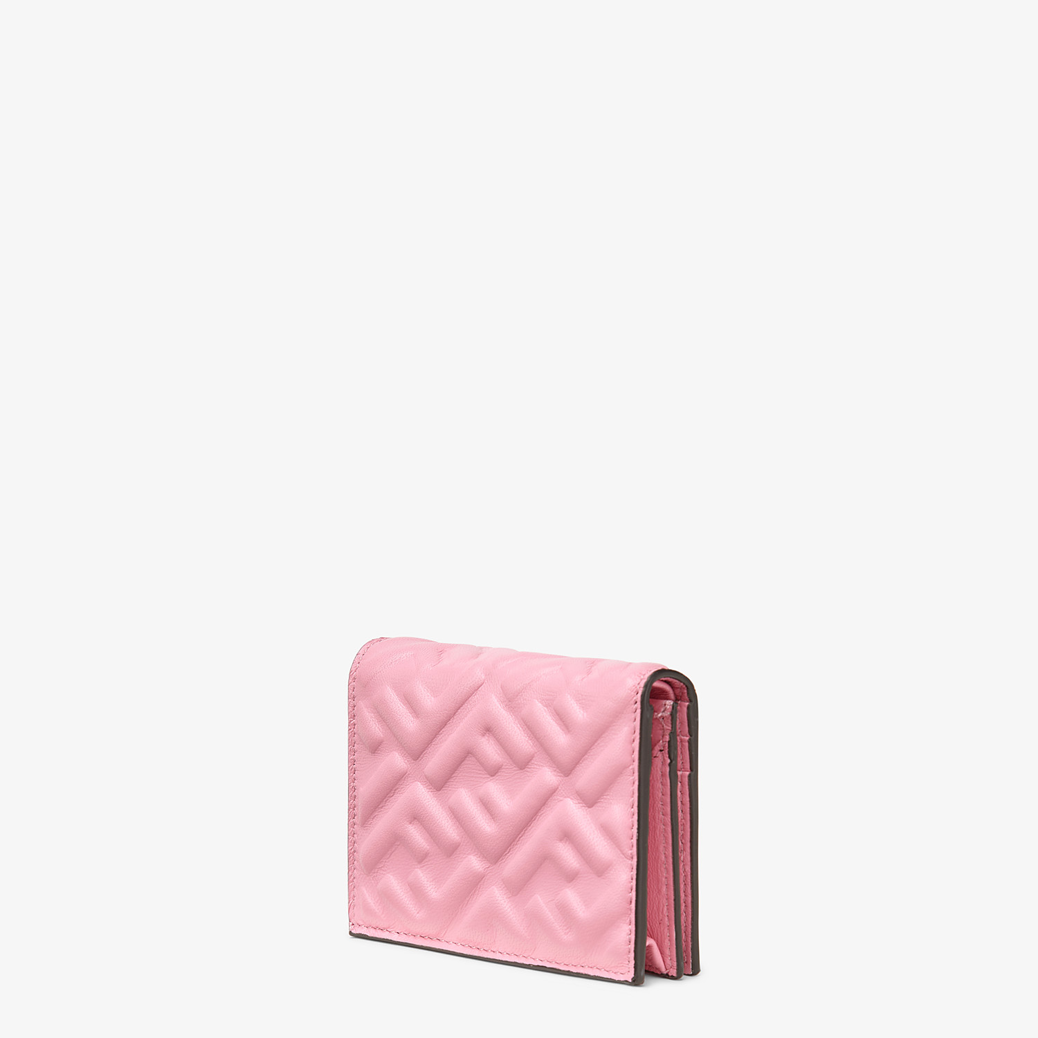 FENDI SMALL WALLET - Pink nappa leather wallet - view 2 detail