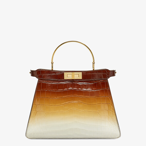 Crocodile leather bag in three colours