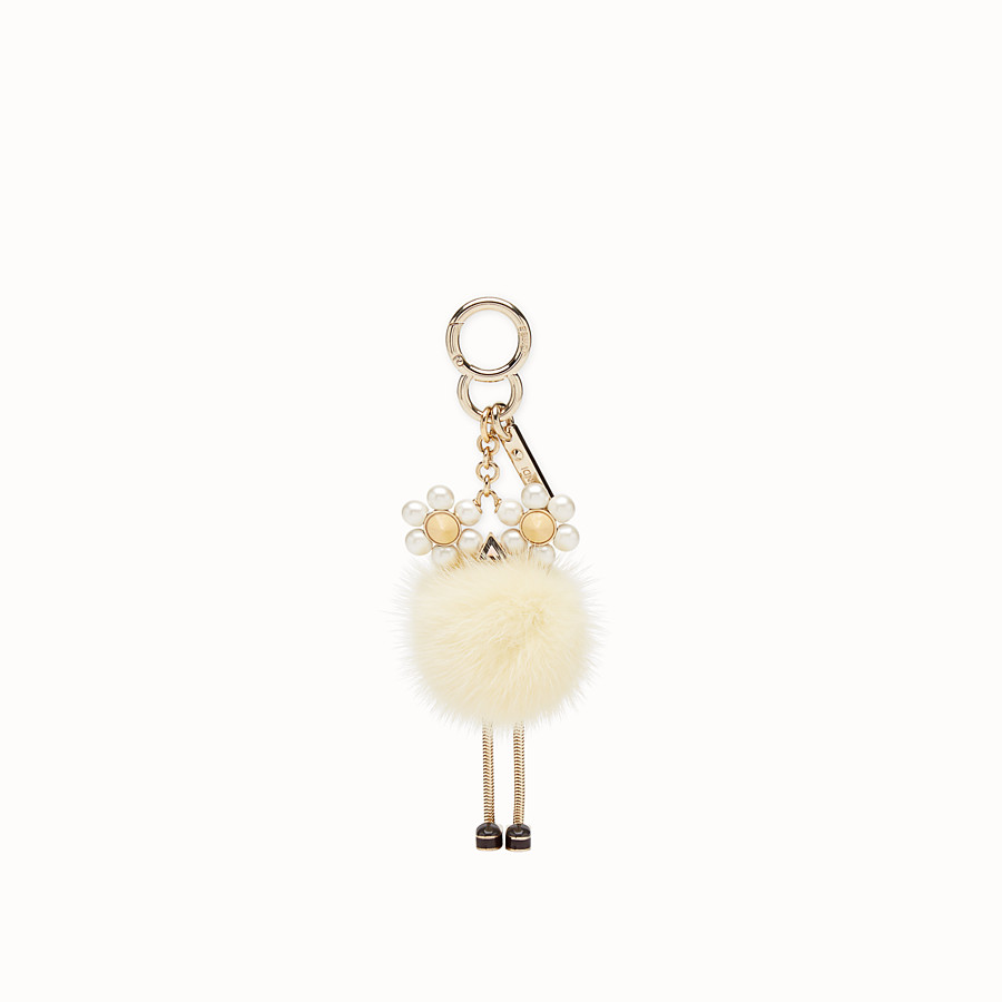 FENDI CHICK CHARM - Yellow fur charm - view 2 detail