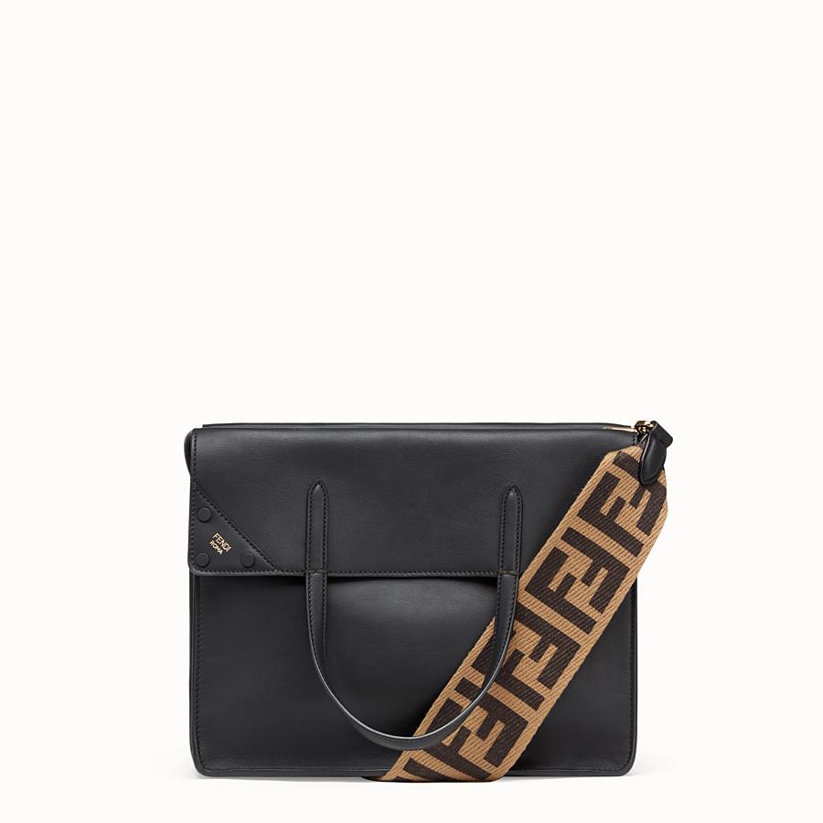 FENDI FENDI FLIP LARGE - Black leather bag - view 1 detail