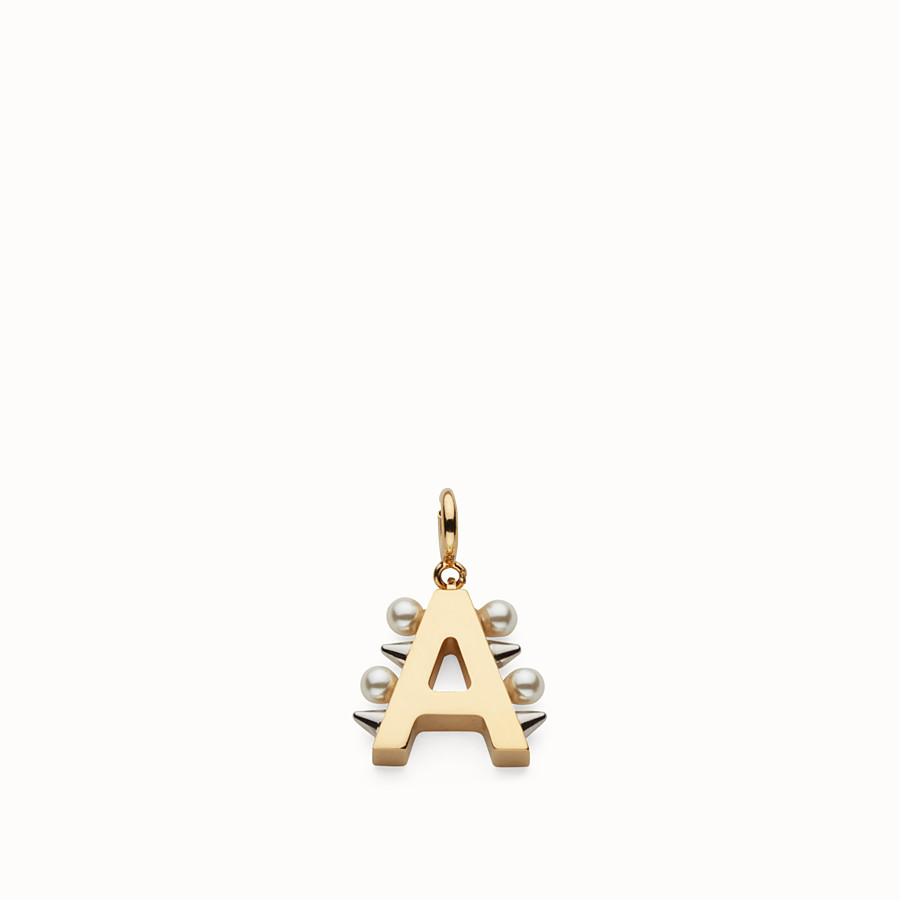 FENDI ABCHIC A - Charm with pearls and studs - view 1 detail