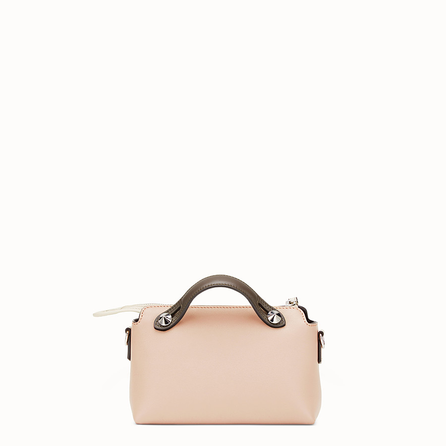FENDI BY THE WAY MINI - Pink leather Boston bag - view 3 detail