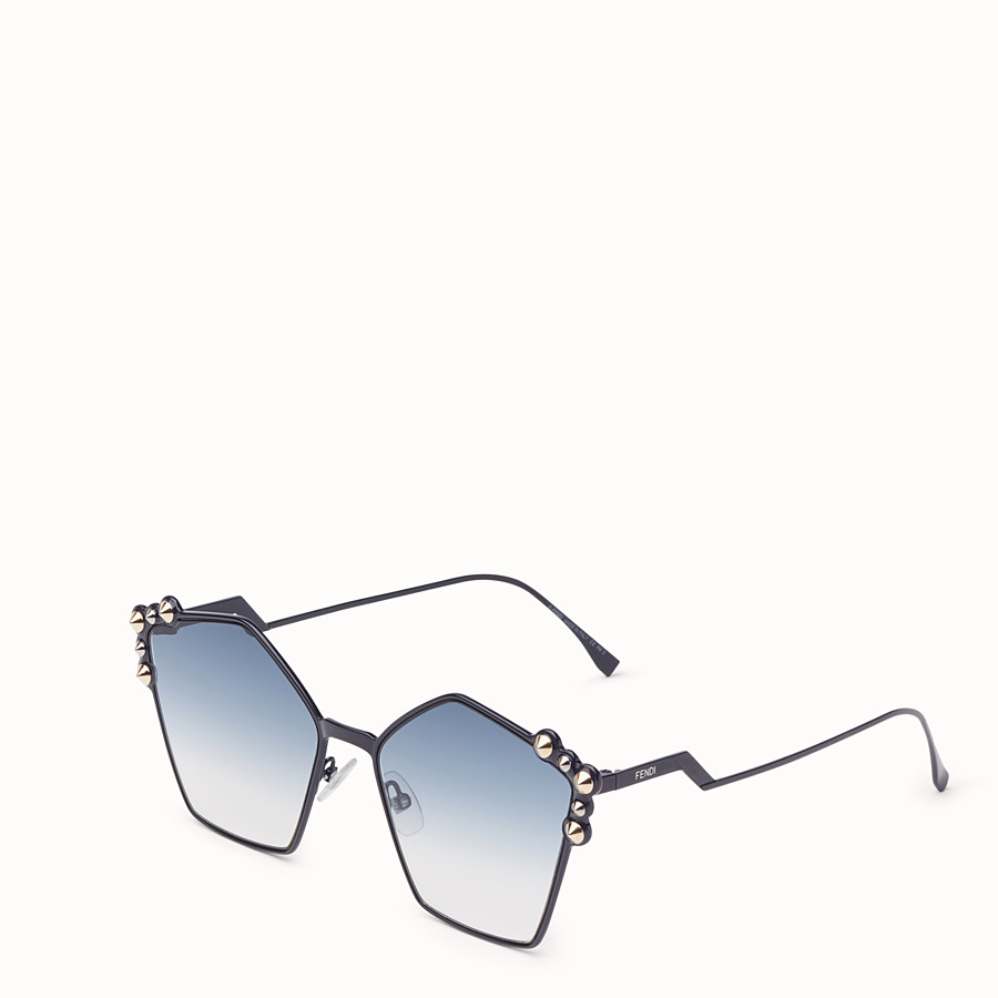 FENDI CAN EYE - Blue sunglasses - view 2 detail