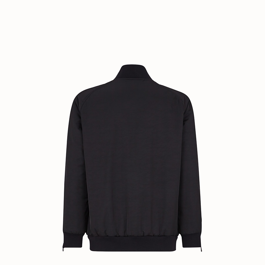 FENDI BOMBER - Black tech fabric jacket - view 2 detail