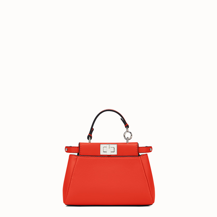 FENDI MICRO PEEKABOO - poppy red nappa microbag - view 1 detail