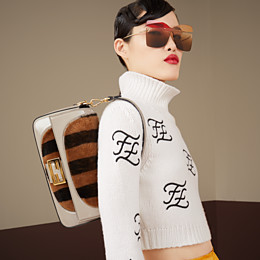 FENDI BAGUETTE - Multicolour, patent leather and sheepskin bag - view 2 thumbnail